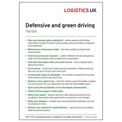 Defensive and Green Driving Sticker