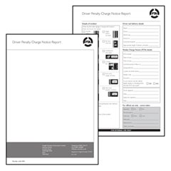 Penalty Charge Notice Pad