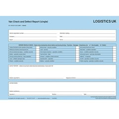 VAN40 Defect Report Pad - Single