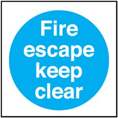 Fire Escape sign MA165R