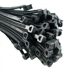 100 x Cable Ties Black 370 x 4.8mm